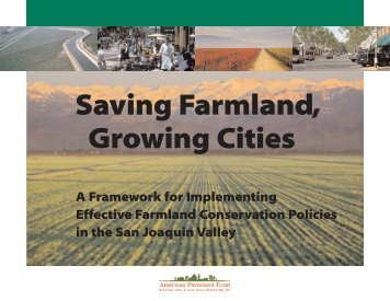 Saving Farmland, Growing Cities - American Farmland Trust