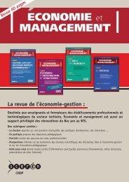 La revue de l'économie-gestion : - Cerpet