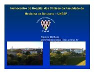 Hemocentro do Hospital das Clínicas da Faculdade de Medicina de ...