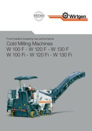 Cold Milling Machines W 100 F - Wirtgen GmbH