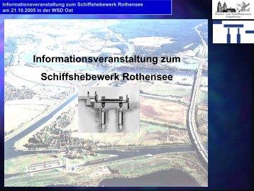 Informationsveranstaltung zum Schiffshebewerk ... - Blaues Band