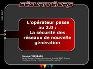 La sécurité des réseaux de nouvelle génération - OSSIR