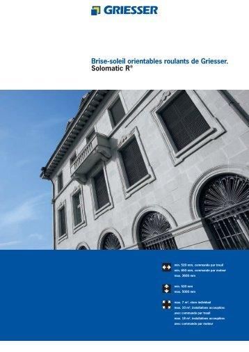 Griesser Solomatic - Concept Ouverture