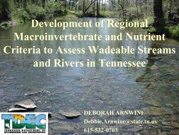 Development of Regional Macroinvertebrate and ... - N-STEPS.com