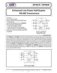 SP481E / SP485E Enhanced Low Power Half-Duplex RS-485 ...