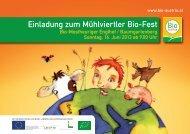 Einladung zum Mühlviertler Bio-Fest