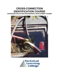 cross-connection identification course - Technical Learning College