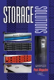 Storage Solutions - Post Magazine
