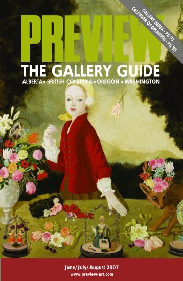 Preview, the Gallery Guide | June–August, 2007