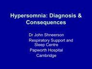 Hypersomnia – Diagnosis & Consequences - NSWO