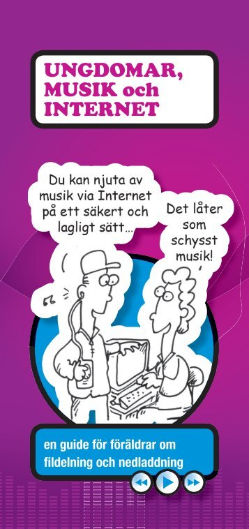 UNGDOMAR, MUSIK och INTERNET - Kidsmart