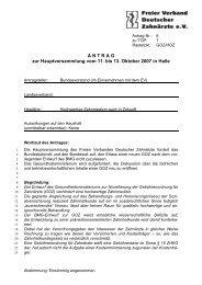 A N T R A G zur Hauptversammlung vom 11. bis 13. Oktober 2007 in ...