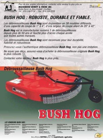 Débroussailleuse Bush Hog - Affaires Extra