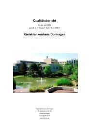 Qualitätsbericht Kreiskrankenhaus Dormagen