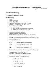 Compilerbau-Vorlesung (15) WS 99/00 - DBIS