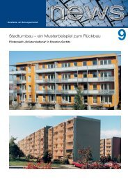 Stadtumbau - B&O - Lösungen für die Wohnungswirtschaft
