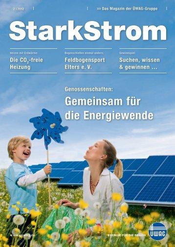 Genossenschaften: Gemeinsam für die Energiewende - ÜWAG