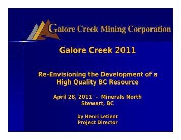 Galore Creek 2011 - Minerals North