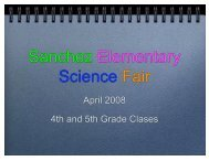 4th & 5th Grade Student Science Fair