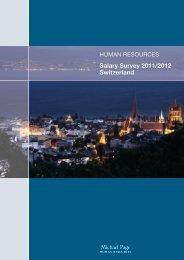 Salary Survey 2011/2012 Switzerland - Michael Page International