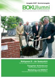 Muthgasse III – der Spatenstich Tiergarten ... - Alumni - Boku
