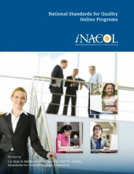 National Standards for Quality Online Programs - iNACOL