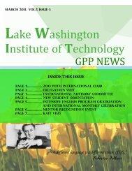 March 2013 Newsletter - Lake Washington Institute of Technology