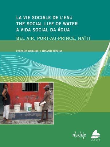 la vie sociale de l'eau the social life of water a vida social da água ...