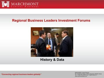 Regional Investment Forums 2010 - Marchmont Capital Partners