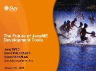 The Future of JavaME Development Tools - download - Java