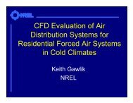 CFD Evaluation of Air Distribution Systems for Residential Forced ...