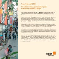 Newsletter Juli 2004 - Vision for the World