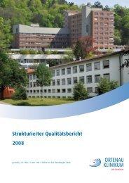 Strukturierter Qualitätsbericht 2008 - Ortenau Klinikum