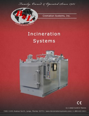 Download Animal Incinerator Brochure - B&L Cremation Systems, Inc.