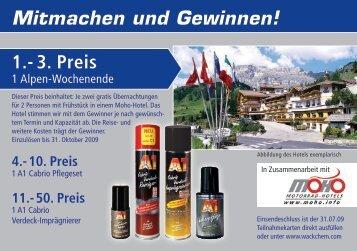Mitmachen und Gewinnen! 1.- 3. Preis - Dr. O.K. Wack Chemie GmbH