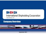 Company Overview Company Overview - International Shipholding ...