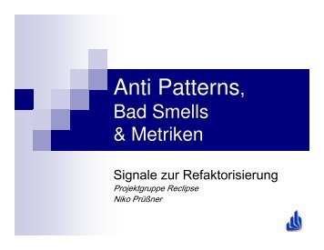 (Microsoft PowerPoint - antipatterns etc \(Version f\374r pdf\).ppt)