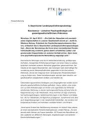 5. Bayerischer Landespsychotherapeutentag ... - PTK Bayern