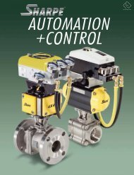 Sharpe Automation and Control Catalog.pdf - Sharpe® Valves
