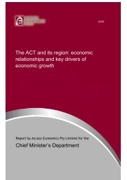 The ACT and its region - Chief Minister and Treasury Directorate ...