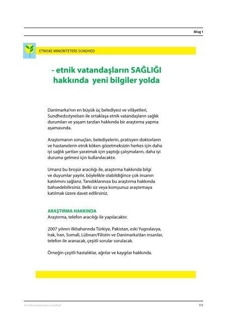Etniske minoriteters sundhed, 2008 - CFK Folkesundhed og ...