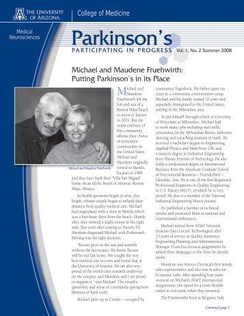 Parkinson's - AHSC Office of Public Affairs - University of Arizona