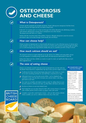 Osteoporosis Leaflet.qxd - British Cheese Board