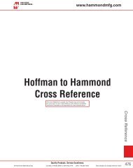 Hoffman to Hammond Cross Reference - Hammond Manufacturing