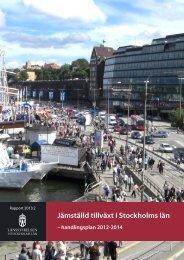 Jämställd tillväxt i Stockholms län – handlingsplan för ... - Tillväxtverket
