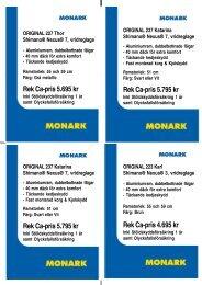 Rek Ca-pris 5.795 kr - Cycleurope