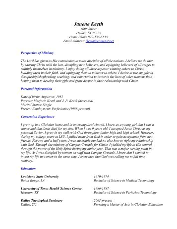 cricket keith resume revised xpastor