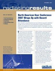 Radiating Results - September - EFI Radius Software