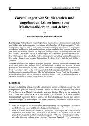 Volltext - mathematica didactica - Pädagogische Hochschule ...