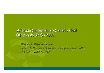 A Saúde Suplementar- Cenário atual Oficinas da ANS - 2006